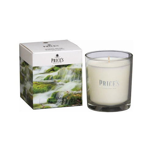 Prices White Musk Boxed Jar Candle