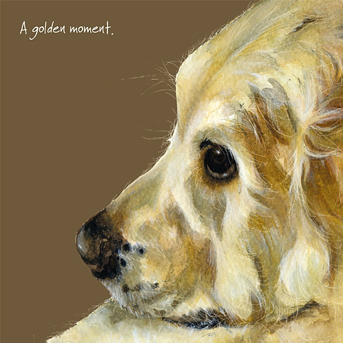 A Golden Moment... Little Dog Laughed Card