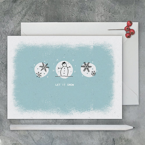East of India Pebble Card - Let it snow
