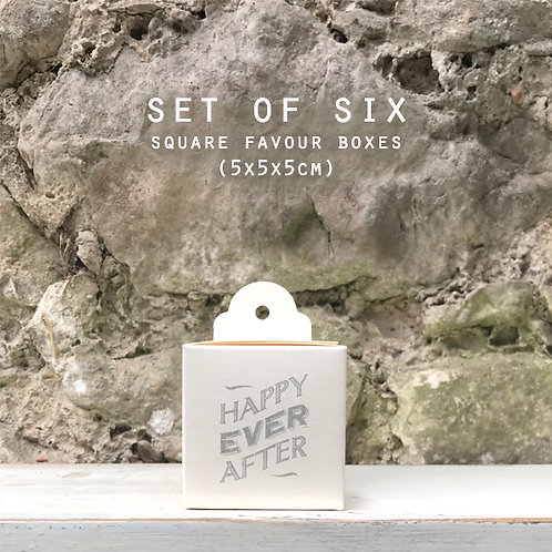 East of India Favour Boxes Set - Happy Ever After