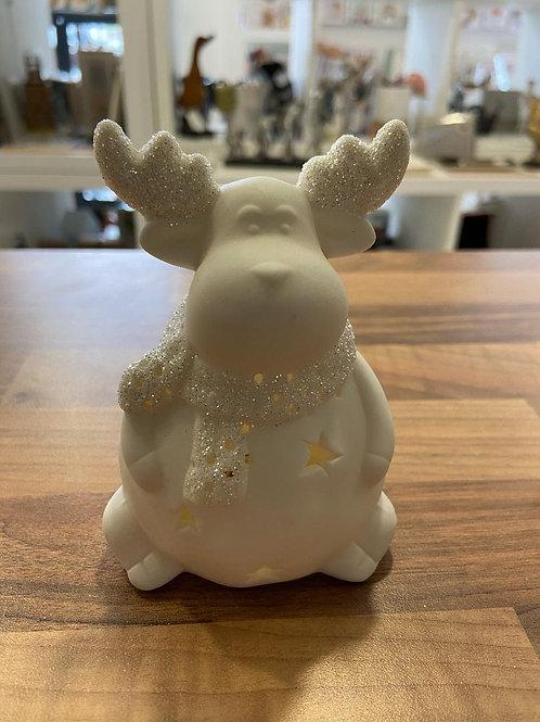 White Light Up Reindeer