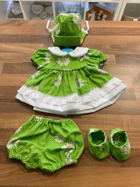 Green Daisy 4 Piece Dolly Set