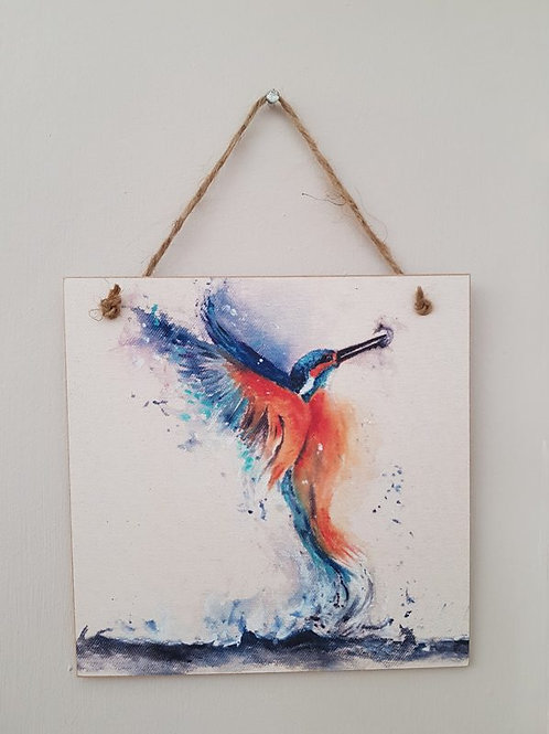 Kingfisher Wooden Forever Card