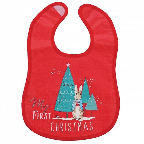 Peter Rabbit My First Christmas Bib