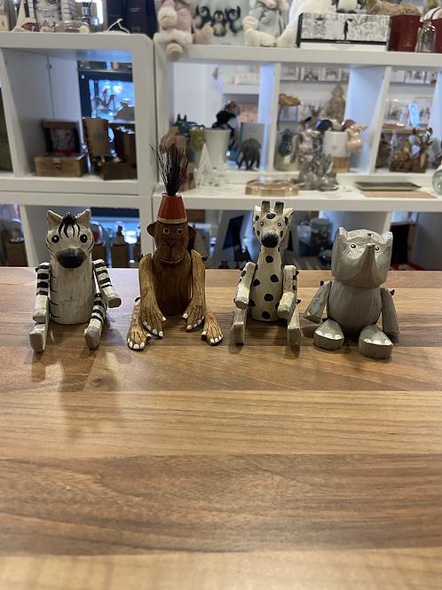 Set of 4 Wooden Animals
