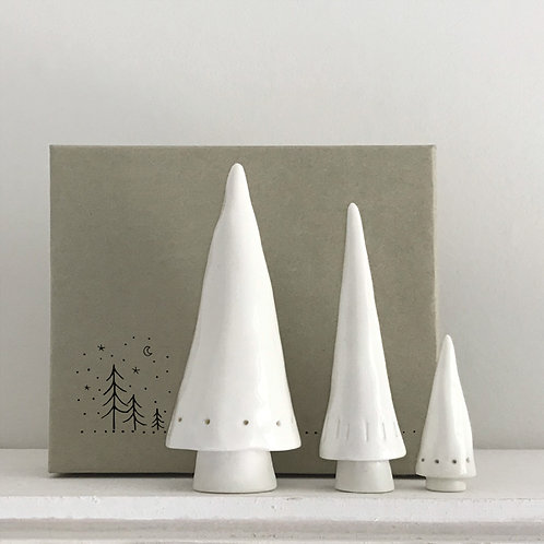 East of India Set of 3 Conical Christmas Trees