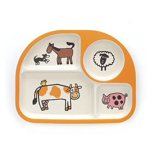 Jellycat Farm Tails Divided Plate
