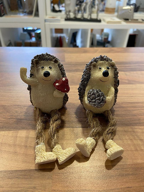 Christmas Hedgehogs with Dangling Legs - Various Designs
