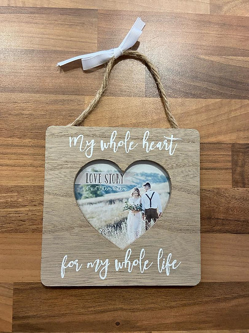 Love Story 4x4'' Hanging Photo Frame