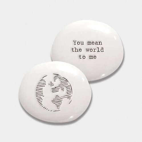 East of India You mean the world to me Porcelain Pebble