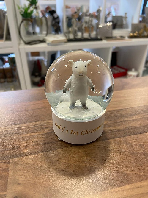 Baby's 1st Christmas Snow Globe