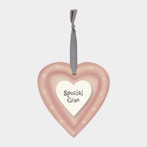 Special Gran Wooden Hanging Heart