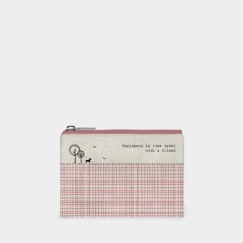 Happiness is time spent with a friend Cotton Purse