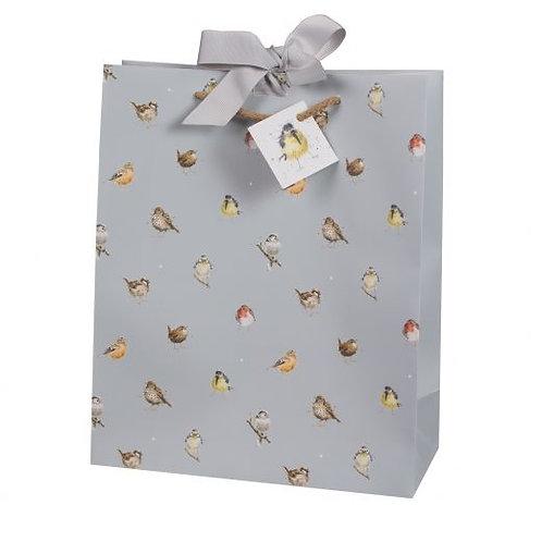 Wrendale Large Gift Bag - Garden Birds