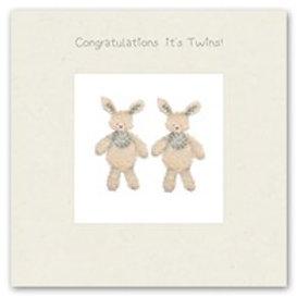 Congratulation's it's Twins Berni Parker Card