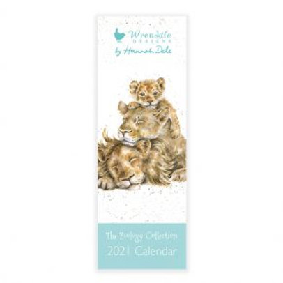 Wrendale Zoology 2021 Slim Calendar