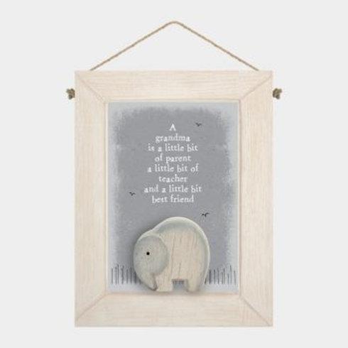 A Grandma is... Wooden Hanger