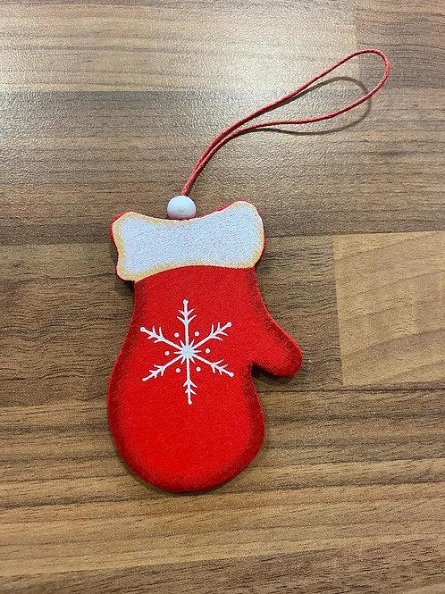 Wooden Mitten Christmas Hanger