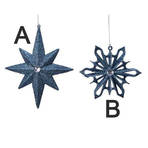 Blue Star Hanging Christmas Decoration