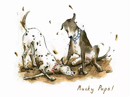 Mucky Pups! Trumpers World Card