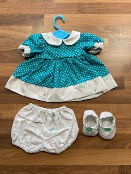 Dumbo and Blue Polka Dot 3 Piece Dolly Set