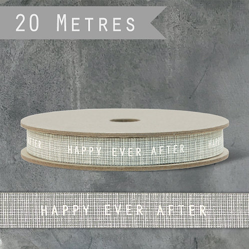 East of India Geometric Ribbon - Happy ever after/Grey