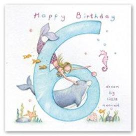 Happy Birthday... dream big little mermaid... 6 Berni Parker Card