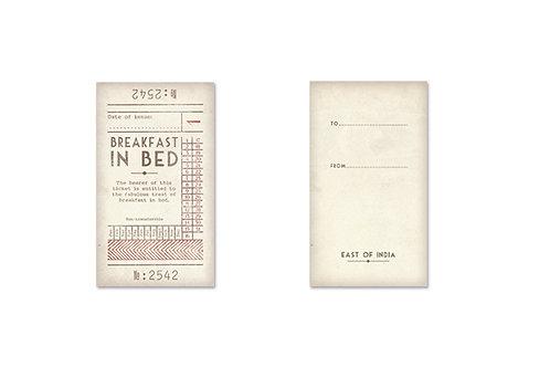 East of India Ticket No.1 - Breakfast in bed
