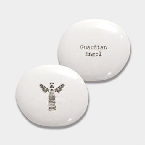 East of India Guardian Angel Porcelain Pebble