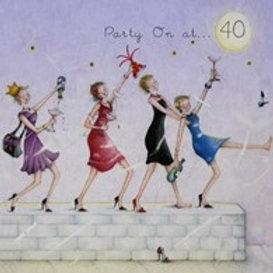Party on at... 40 Berni Parker Card