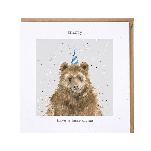 Wrendale 30th 'Have a bear on me' Card