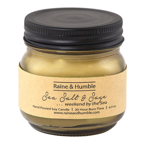Raine and Humble Sea Salt and Sage Soy Candle