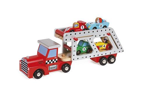 Janod Story 4 Car Transporter