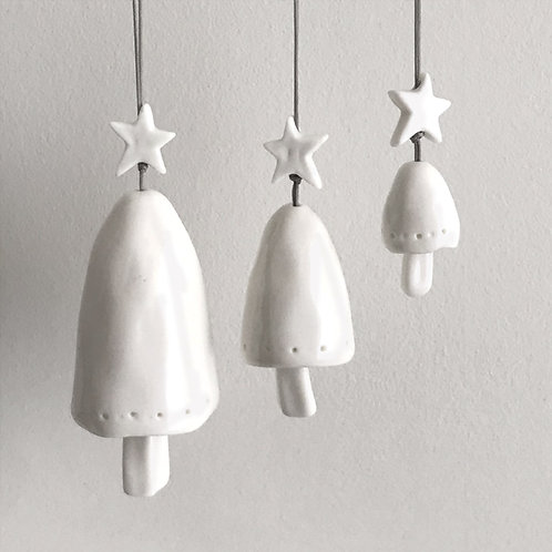 East of India Porcelain Hanging Bell