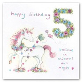 Happy Birthday... Believe in unicorns and magic... 5 Berni Parker Card