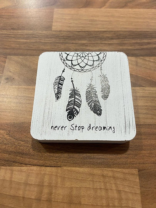 Never Stop Dreaming Decorative Wall Plaque