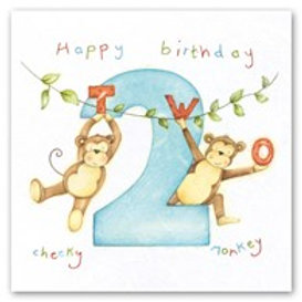 Happy Birthday... Cheeky monkey... 2 Berni Parker Card