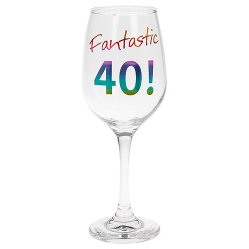 Fantastic 40! Wine Glass
