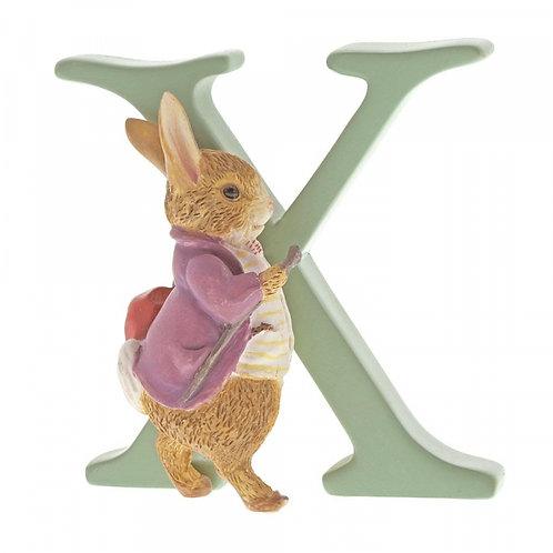 Beatrix Potter Ceramic Letters - Letter X