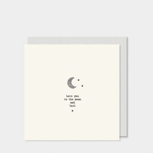 Love you to the moon and back East of India Card