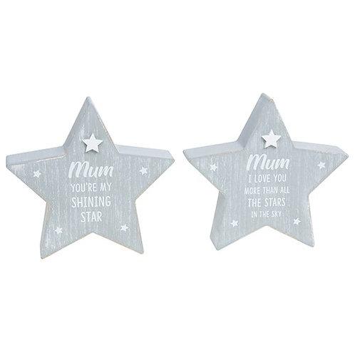 Cool grey standing star - Mum