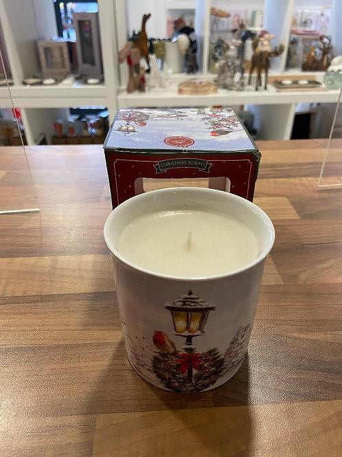 Christmas Robin Vanilla Cinnamon Scented Candle