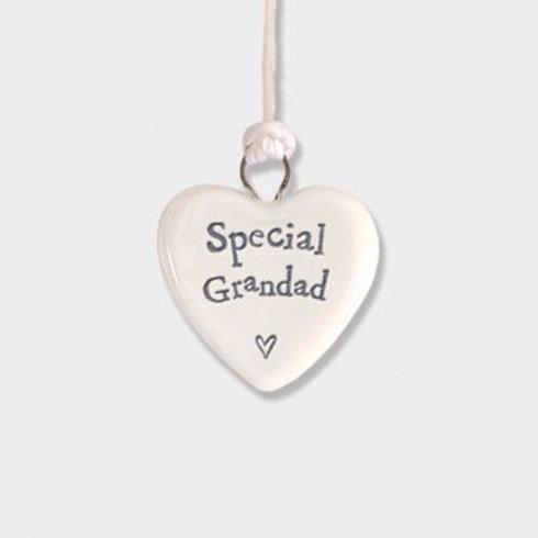 Special Grandad Tiny Hanging Heart
