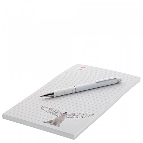 Jimmy the Bull Notepad and Pen - Angel Wings