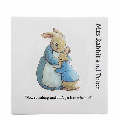 Mrs Rabbit Wall Plaque
