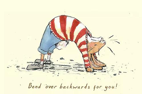 Bend Over Backwards for you! Trumpers World Card