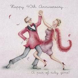 Happy 40th Anniversary Berni Parker Card