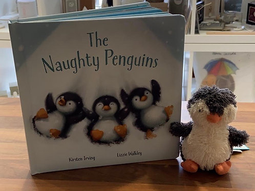 Jellycat The Naughty Penguin Book Set