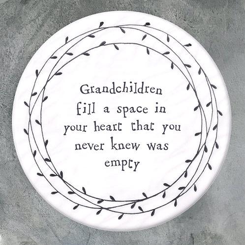 Grandchildren fill a space coaster
