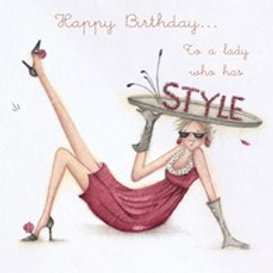 Happy Birthday... to a lady who has style Berni Parker Card